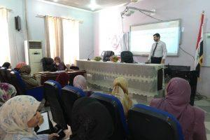 كلية التمريض تقيم ورشة عمل حول المقررات الدراسية (2)